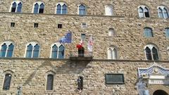 The Old Palace (Palazzo Vecchio or Palazzo della Signoria) Stock Footage