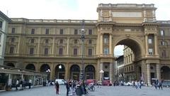Arch Piazza Della Republica Stock Footage