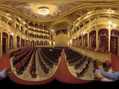 Hungarian opera 360° video Stock Footage