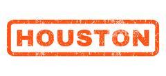 Houston Rubber Stamp Stock Illustration