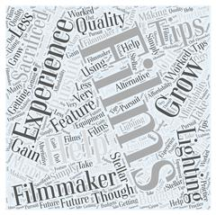 Lighting Tips for Feature Films word cloud concept Stock Illustration