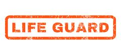 Life Guard Rubber Stamp Stock Illustration