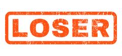 Loser Rubber Stamp Stock Illustration