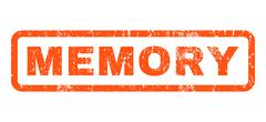 Memory Rubber Stamp Stock Illustration