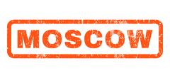 Moscow Rubber Stamp Stock Illustration