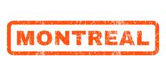 Montreal Rubber Stamp Stock Illustration