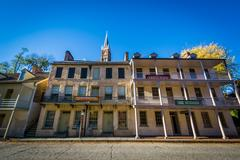 Historic buildings in Harpers Ferry  West Virginia Stock Photos