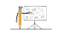 Teacher and presentation economic development. Stock Footage