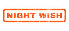 Night Wish Rubber Stamp Stock Illustration