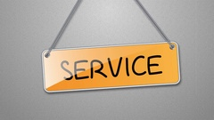 Animation signs service. Stock Footage