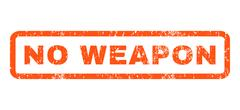 No Weapon Rubber Stamp Stock Illustration