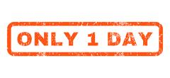Only 1 Day Rubber Stamp Stock Illustration
