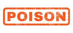 Poison Rubber Stamp Stock Illustration