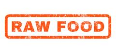 Raw Food Rubber Stamp Stock Illustration