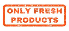 Only Fresh Products Rubber Stamp Stock Illustration