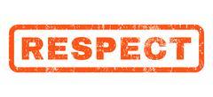 Respect Rubber Stamp Stock Illustration