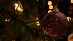 Christmas Garland On Tree Stock Footage