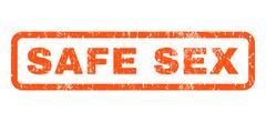 Safe Sex Rubber Stamp Stock Illustration