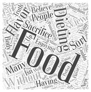 Dieting Without Sacrifice word cloud concept Stock Illustration