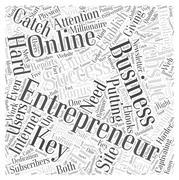Entrepreneur website word cloud concept Stock Illustration