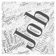 How has the credit crunch effected the IT industry word cloud concept Stock Illustration