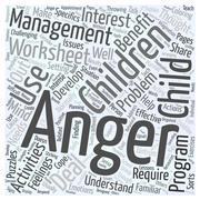 Why Children may Benefit from Anger Management Worksheets word cloud concept Stock Illustration