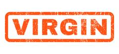 Virgin Rubber Stamp Stock Illustration