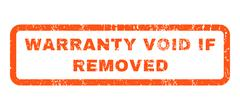 Warranty Void If Removed Rubber Stamp Stock Illustration