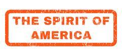 The Spirit Of America Rubber Stamp Stock Illustration