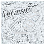 Forensic nursing description word cloud concept Stock Illustration
