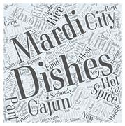Mardi Gras Cooking Cajun Style word cloud concept Piirros
