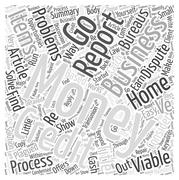 Money Problems Consider A Viable Home Business word cloud concept Stock Illustration