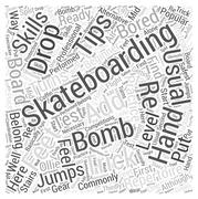 Skateboarding trick tip word cloud concept Stock Illustration
