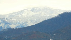 Caucasian snow-capped mountains Stock Footage