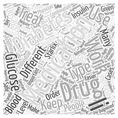 Medications that Treat Diabetes word cloud concept Stock Illustration