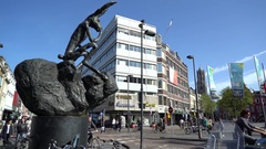 Rabbit Thinker Statue Timelapse in Utrecht, the Netherlands in 4K Stock Footage
