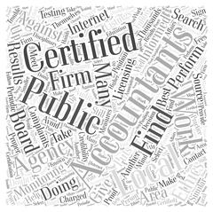 Where to Find Certified Public Accountants word cloud concept Stock Illustration