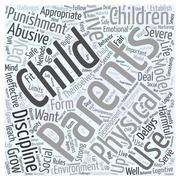 Physical Punishment is Ineffective and Harmful word cloud concept Stock Illustration