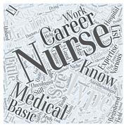Types of Nursing Careers Know Your Nursing Expertise word cloud concept Stock Illustration
