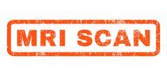 MRI Scan Rubber Stamp Piirros