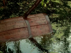 Storage of cucumbers in a barrel Stock Footage