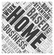 How Much Fun Are You As a Home Based Business Owner word cloud concept Stock Illustration