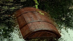 Preparation storage of cucumbers in a barrel in the winter Stock Footage