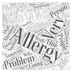 Symptoms of Having Allergies word cloud concept Piirros