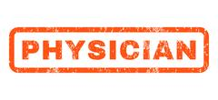 Physician Rubber Stamp Stock Illustration