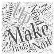 Finding Cheap Bridal Accessories word cloud concept Stock Illustration