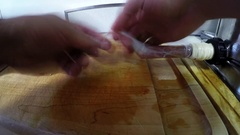 Home made sausages time lapse Stock Footage