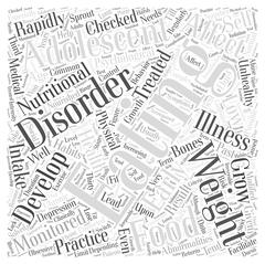 Eating Disorders in Adolescents word cloud concept Stock Illustration