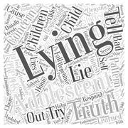 The Truth about Lying word cloud concept Stock Illustration