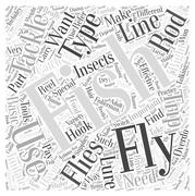 Fly Fishing Tackle word cloud concept Stock Illustration